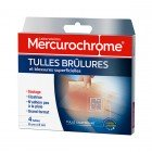 MERCUROCHROME TULLES BRULURES ET BLESSURES SUPERFICIELLES 4 TULLES