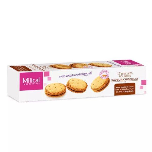 Milical Biscuits Fourrés Chocolat boite de 12