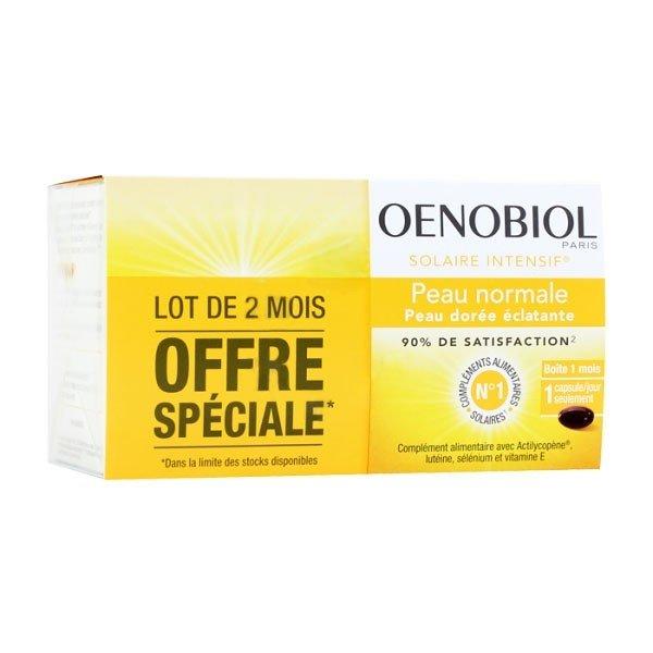Complément alimentaire Oenobiol Solaire pour préparer sa peau au soleil