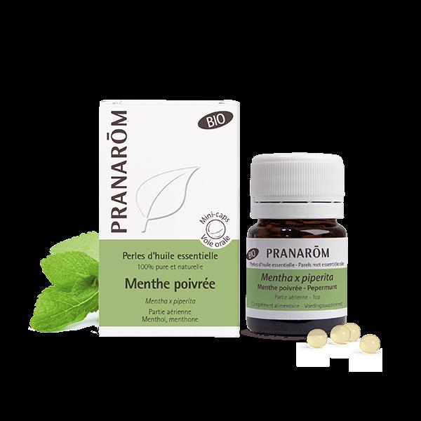 perles huile essentielle menthe poivree