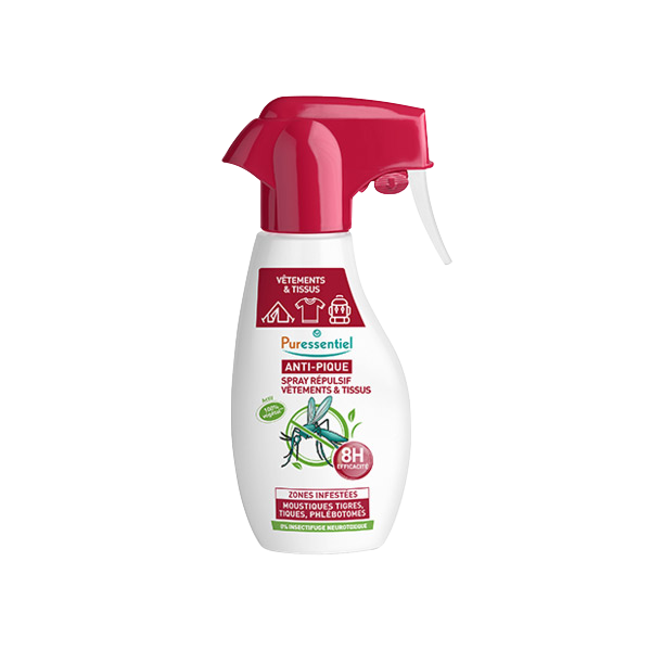Spray Répulsif anti moustique Vêtements et Tissus Pure Essentiel