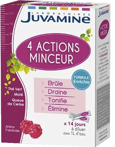 Juvamine CelliSlim Cocktail Minceur 4 Actions 14 sticks