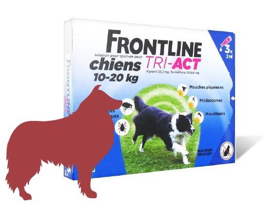 Frontline Tri-Act Chien M 10 à 20 kg 3 pipettes